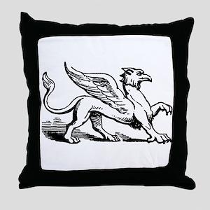 Griffin Illustration Throw Pillow