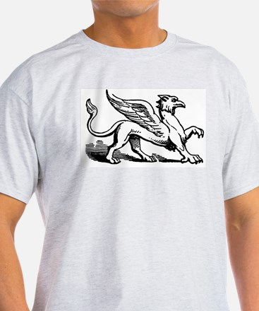 Griffin Illustration Ash Grey T-Shirt
