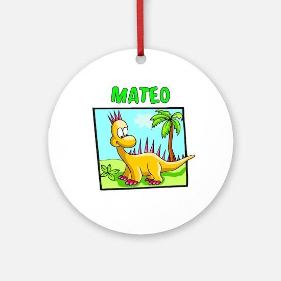 Mateo Dinosaur Ornament (Round)