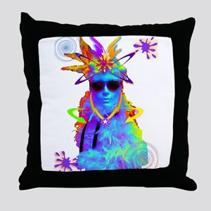New Age Flapperz Throw Pillow