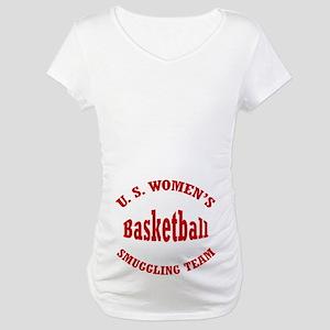 Funny Preggers Basketball Maternity T-Shirt