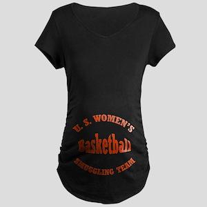 Funny Preggers Basketball Maternity Dark T-Shirt