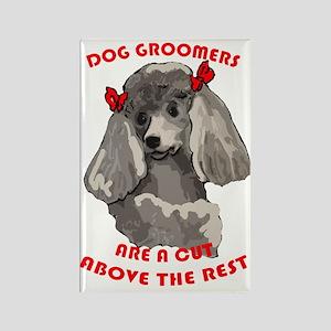 dog groomer Rectangle Magnet