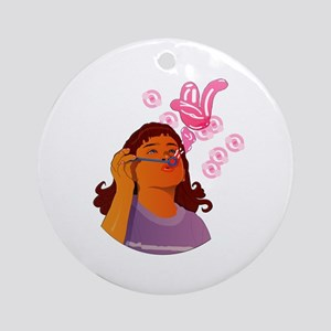 Blowing Bubbles and Wishes Ornament (Round)