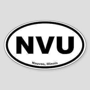 Nauvoo, Illinois Oval Sticker
