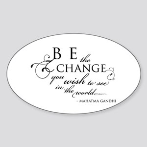 Change - Oval Sticker
