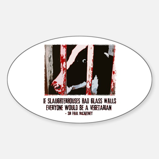 Slaughterhouse Cow Oval Decal