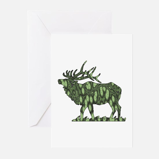 camo elk Greeting Cards (Pk of 10)