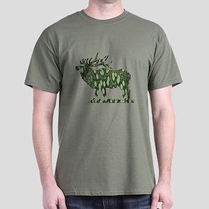 camo elk Dark T-Shirt