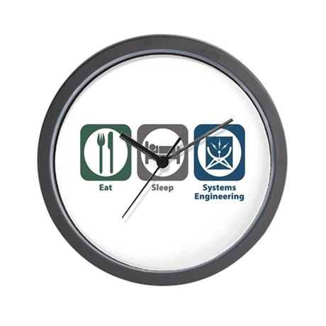 Eat Sleep Systems Engineering Wall Clock