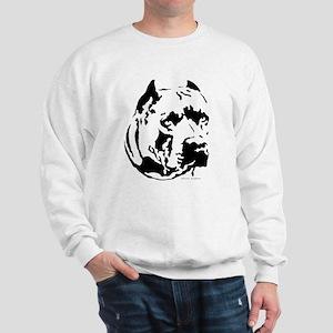 pit bull head Sweatshirt
