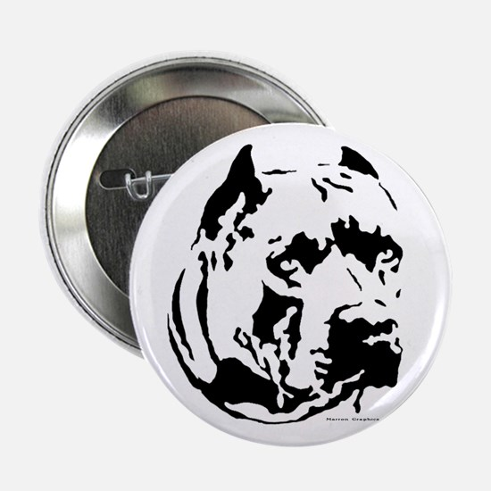 pit bull head Button