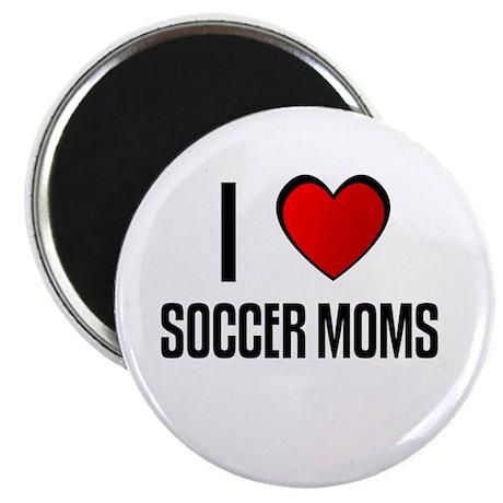 """I LOVE SOCCER MOMS 2.25"""" Magnet (10 pack)"""