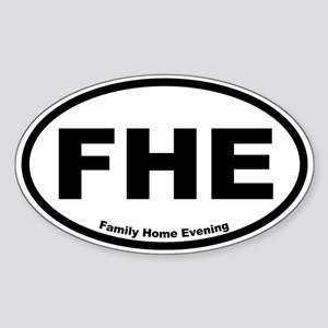 Family Home Evening Oval Sticker