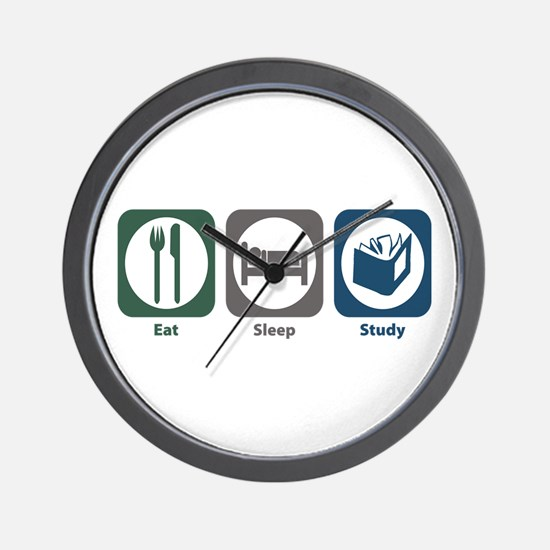 Eat Sleep Study Wall Clock