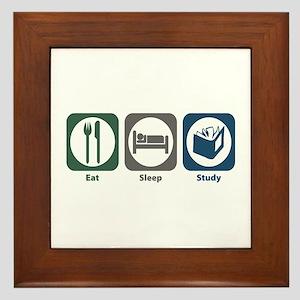 Eat Sleep Study Framed Tile