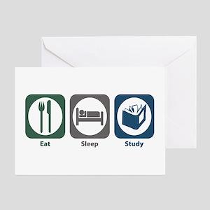 Eat Sleep Study Greeting Card