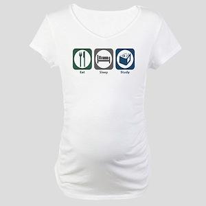 Eat Sleep Study Maternity T-Shirt