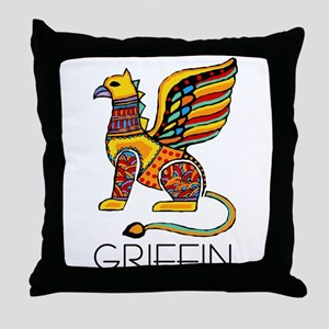 Colorful Griffin Throw Pillow