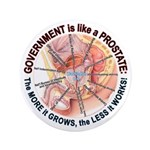 """Government Prostate 3.5"""" Button (100 pack)"""