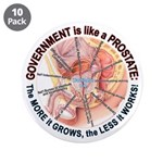 """Government Prostate 3.5"""" Button (10 pack)"""