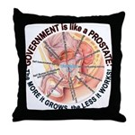 Government Prostate Throw Pillow