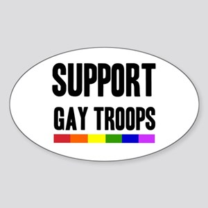 Support Gay Troops Oval Sticker