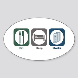 Eat Sleep Stocks Oval Sticker