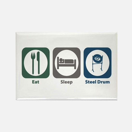 Eat Sleep Steel Drum Rectangle Magnet