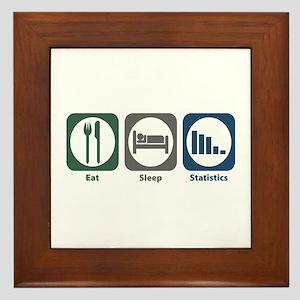 Eat Sleep Statistics Framed Tile