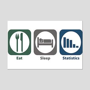 Eat Sleep Statistics Mini Poster Print