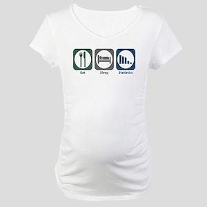 Eat Sleep Statistics Maternity T-Shirt