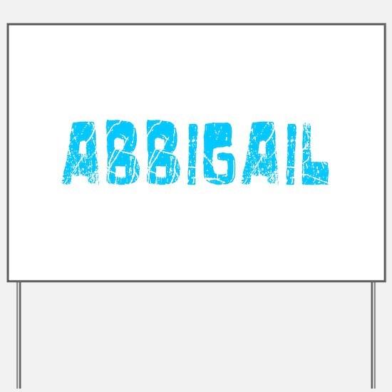 Abbigail Faded (Blue) Yard Sign