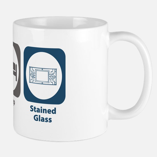 Eat Sleep Stained Glass Mug