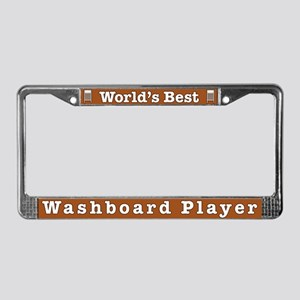 Best Washboard Player License Plate Frame