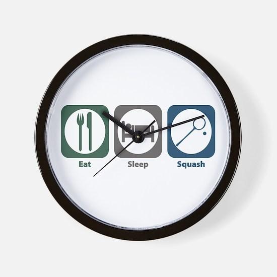 Eat Sleep Squash Wall Clock