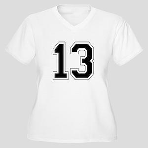 13 Womes Plus-Size V-Neck T-Shirt