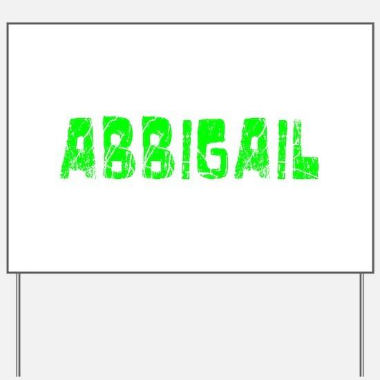 Abbigail Faded (Green) Yard Sign