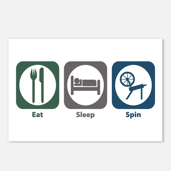 Eat Sleep Spin Postcards (Package of 8)
