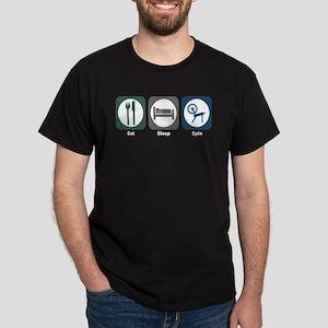 Eat Sleep Spin Dark T-Shirt