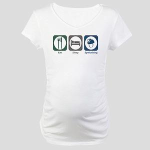 Eat Sleep Spelunking Maternity T-Shirt