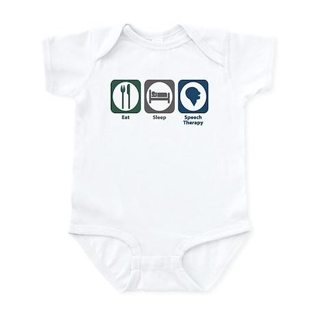 Eat Sleep Speech Therapy Infant Bodysuit