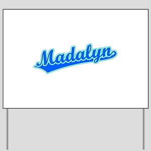 Retro Madalyn (Blue) Yard Sign