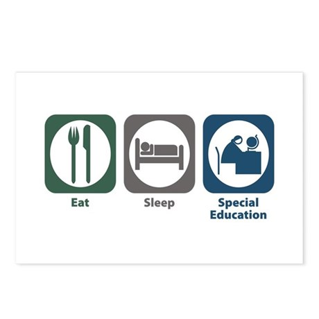 Eat Sleep Special Education Postcards (Package of