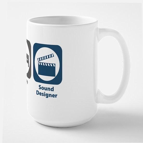 Eat Sleep Sound Designer Large Mug