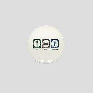 Eat Sleep Sociology Mini Button