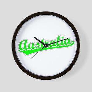 Retro Australia (Green) Wall Clock