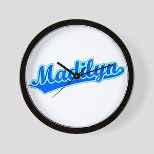 Retro Madilyn (Blue) Wall Clock