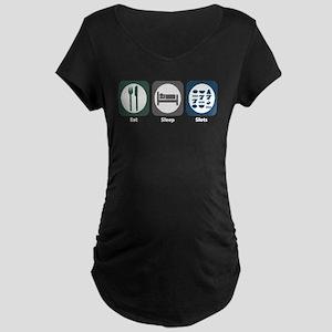 Eat Sleep Slots Maternity Dark T-Shirt