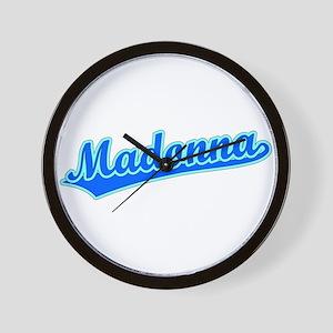 Retro Madonna (Blue) Wall Clock